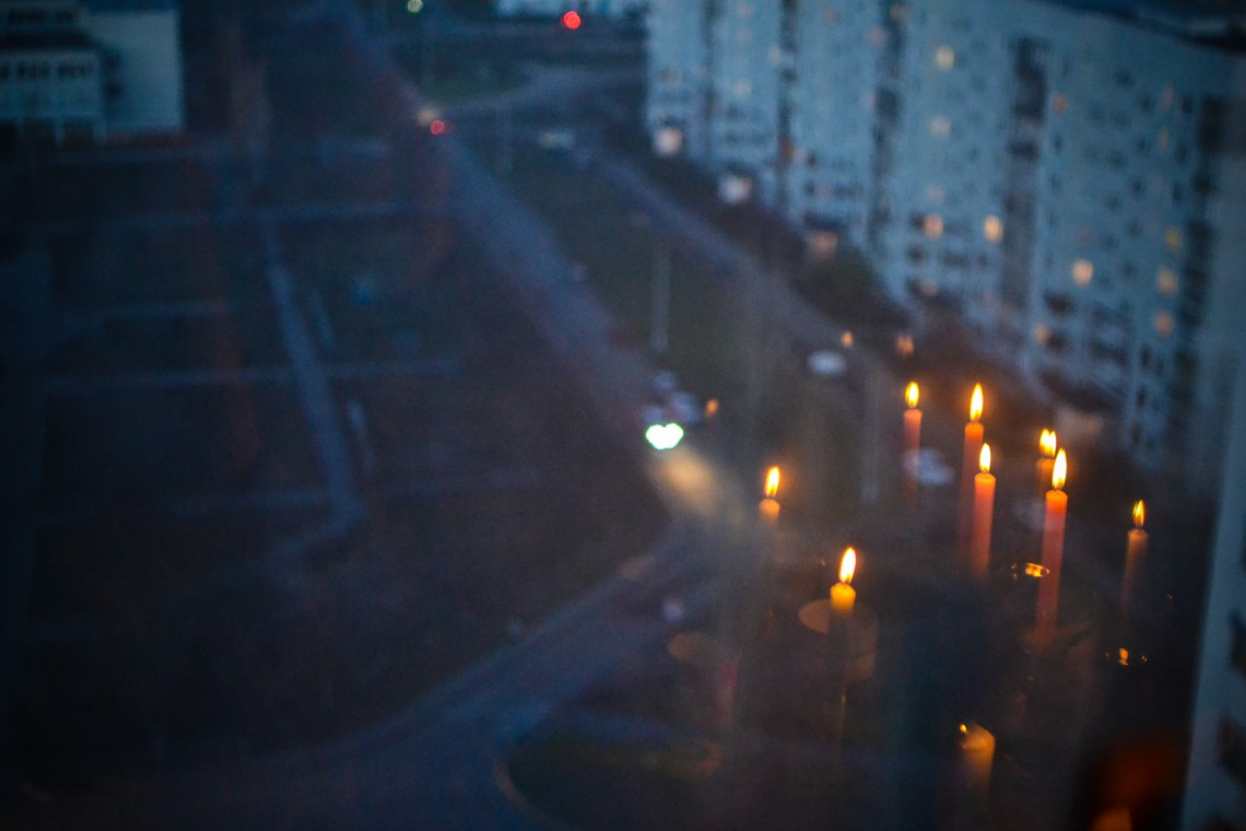 Ulyanovsk, candles, town